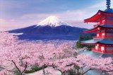 ★32%off★1000ピースジグソーパズル:五重塔から望む桜富士-山梨