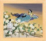 ◆希少品◆パネル付き168ピースジグソーパズル:夕顔(源氏物語)《廃番商品》