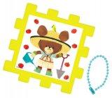 ◆希少品◆パネル付き25ピースクミパネジグソーパズル:くまのがっこう トマトづくり《廃番商品》