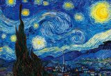★32%off★1000マイクロピースジグソーパズル:星月夜(ゴッホ)