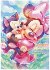 ★32%off★ステンドアート266スモールピースジグソーパズル:ミニーマウス&フィガロ
