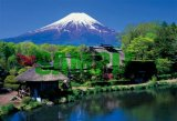 ■108ラージピースジグソーパズル:シンプルスタイル 忍野村より富士《廃番商品》
