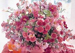 画像1: ◆希少品◆500ピースジグソーパズル:ピンク・フローラル《廃番商品》