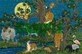 ★32%off★1000ピースジグソーパズル:月下群獣図(佐藤 潤)《カタログ落ち商品》