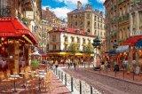 ★36%off★1000ピースジグソーパズル:陽のあたるパリのカフェ(サムパーク)