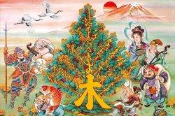 画像1: ★32%off★1000ピースジグソーパズル:金の実る木と七福神(竹内白雅)