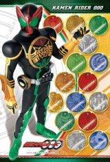 ◆希少品◆ミニパズル15ピース:仮面ライダーオーズ タトバ&オーメダル《廃番商品》
