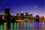 【引上品】◆希少品◆1500スモールピースジグソーパズル:きらめく街とブルックリンブリッジ《廃番商品》