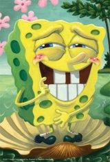 ◆希少品◆ミニパズル150ピース:The Birth of SpongeBob(ザ バース オブ スポンジボブ)《廃番商品》