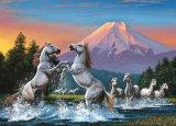 ◆希少品◆2014ピースジグソーパズル:明け富士と跳ね馬(梶田達二)《廃番商品》