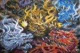 ■3000スモールピースジグソーパズル:五色の龍(原井加代美)