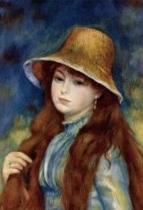 ★33%off★300ピースジグソーパズル:麦わら帽子の少女(ルノワール)