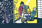 ★27%off★300ピースジグソーパズル:滝平二郎 きりえコレクション 「小正月の朝」