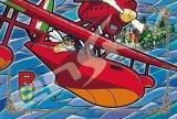 ★32%off★アートクリスタル300ピースジグソーパズル:紅の豚 アドリア海上空