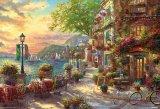 ■1000ピースジグソーパズル:リビエラの花咲くカフェ(トーマス・キンケード)