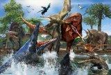 【取寄商品】★34%off★こどもジグソー40ピースジグソーパズル:ティラノサウルス VS モササウルス