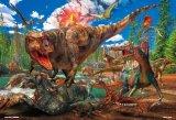 ★26%off★こどもジグソー40ピースジグソーパズル:ティラノサウルス VS トリケラトプス
