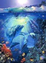 ◆希少品◆500ピースジグソーパズル:ミッドナイト サン(CRラッセン)《廃番商品》