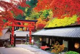 ◆希少品◆1000ピースジグソーパズル:秋に染まる京茶屋《廃番商品》