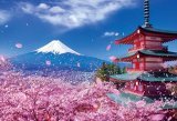 ★34%off★1000ピースジグソーパズル:富士と桜舞う浅間神社