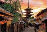 ■1000ピースジグソーパズル:夕陽に染まる八坂の塔