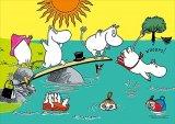 ■プリズムアート108ピースジグソーパズル:ムーミン一家と水遊び