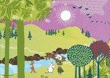 ■プリズムアート108ピースジグソーパズル:ムーミンバレー ヨキ(川)《廃番商品》