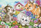 ★32%off★600ピースジグソーパズル:いたずら子猫(原井加代美)