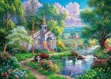 ★25%off★600ピースジグソーパズル:輝く水辺の教会(アブラハム ハンター)