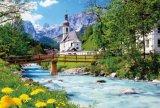 【引上品:シュリンク破れあり】◆希少品◆1000ピースジグソーパズル:ラムサウの白い教会《廃番商品》