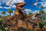 ■おおきなピース 80ピースジグソーパズル:ティラノサウルス VS ヴェロキラプトル