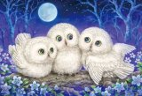 ■1000ピースジグソーパズル:森のささやき 〜Owl Triplets〜(原井加代美)