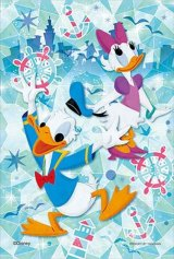 ■プリズムアート70ピースジグソーパズル:ディズニー グラス・オーシャン(ドナルド&デイジー)《廃番商品》