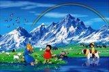 ◆希少品◆1000ピースジグソーパズル:アルプスの少女ハイジ とっておきの場所《廃番商品》