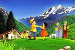 画像1: ◆希少品◆2000ピースジグソーパズル:アルプスの少女ハイジ 牧場のダンス《廃番商品》
