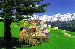 画像1: ◆希少品◆300ピースジグソーパズル:アルプスの少女ハイジ 木もれ陽の食卓《廃番商品》