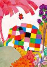 ◆希少品◆300マイクロピースジグソーパズル:蝶といっしょに(エルマー)《廃番商品》