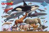 ★31%off★300ラージピースジグソーパズル:くらべる図鑑[新版] 生物大きさくらべ