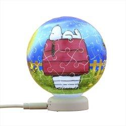 画像1: 3D球体60ピース:パズルライト3Dボールタイプ スヌーピー 星空の夢