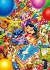 【引上品】■ステンドアート1000ピースジグソーパズル:バースデイパーティー!(スティッチ)《廃番商品》