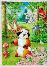 ◆希少品◆500ピースジグソーパズル:あらいぐまラスカル こんにちは!ラスカル《廃番商品》