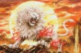 ■1000ピースジグソーパズル:白獅子咆哮(原井加代美)《廃番商品》