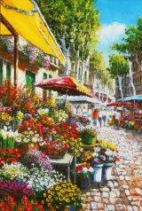 ◆希少品◆450スモールピースジグソーパズル:ランブラス通りのフラワーマーケット(サムパーク)《廃番商品》