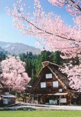 ■600ベリースモールピースジグソーパズル:白川郷の春-岐阜《廃番商品》