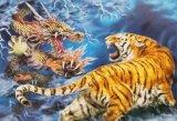 ◆希少品◆600ベリースモールピースジグソーパズル:黄龍猛虎図(原井加代美)《廃番商品》