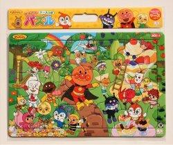 画像1: 板パズル30ピース:B4パズル セイカのケースつきパズルしようよ30P-K柄 アンパンマンとフルーツパーティ それいけ!アンパンマン