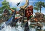 ★32%off★150ラージピースジグソーパズル:ティラノサウルスVSモササウルス