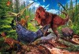 ★26%off★150ラージピースジグソーパズル:ティラノサウルス VS ティラノサウルス