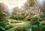 ■1000マイクロピースジグソーパズル:春の庭(トーマスキンケード)