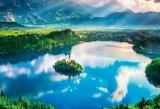 ★32%off★1000マイクロピースジグソーパズル:ブレッド湖 〜湖上の小さな教会〜